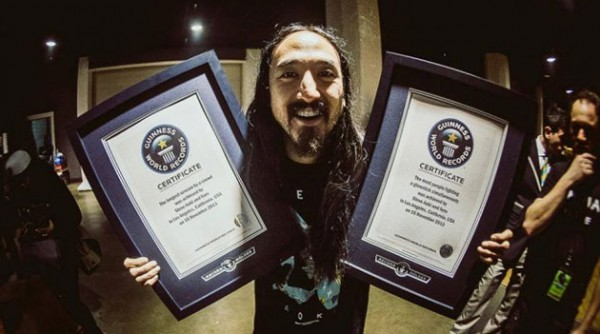 Steve Aoki y sus fans baten dos records Guinness